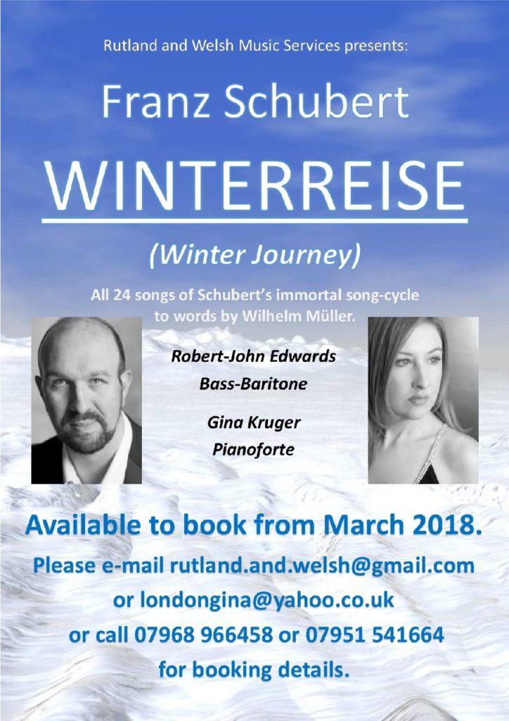 Winterreise Recital Preview Poster by Robert-John Edwards