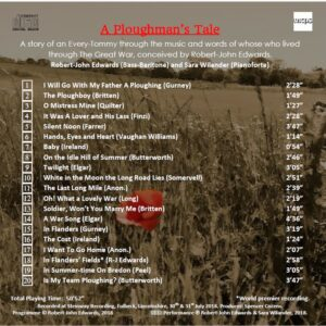 A Ploughman's Tale CD Recording